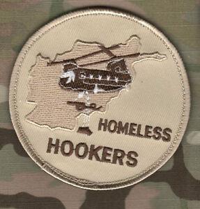DAESH-WHACKER ARMY Boeing CH-47 Chinook velkrö-burdock PATCH: HOMELESS HOOKERS