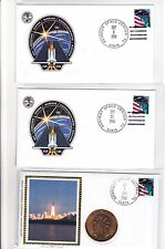 STS-115 Atlantis 3 Covers (1 Medallion) Sep 2006 Space Shuttle Canada !!