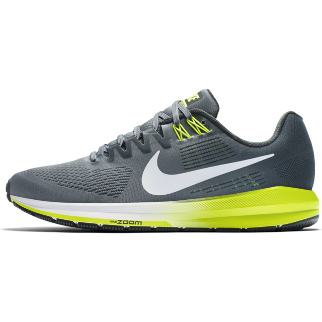great fit 2e3d9 1c082 Nike Air Zoom Structure 21 WIDE 4E Mens Sz 10 Running Shoes Gray/Volt MSRP  $120
