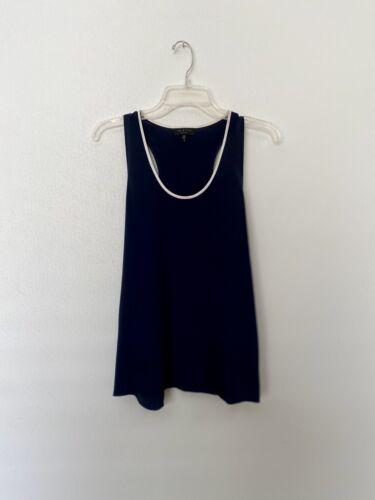Womens Rag & Bone Navy And White 100% Silk Sleeve… - image 1