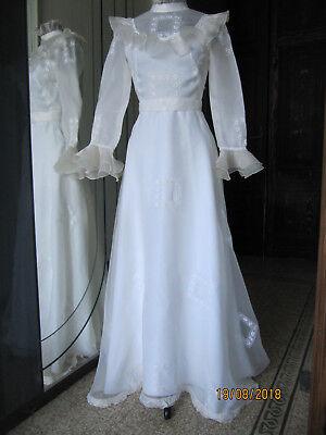 Abiti Da Sposa Anni 70.Abito Da Sposa Bianco Vintage Anni 70 Ebay
