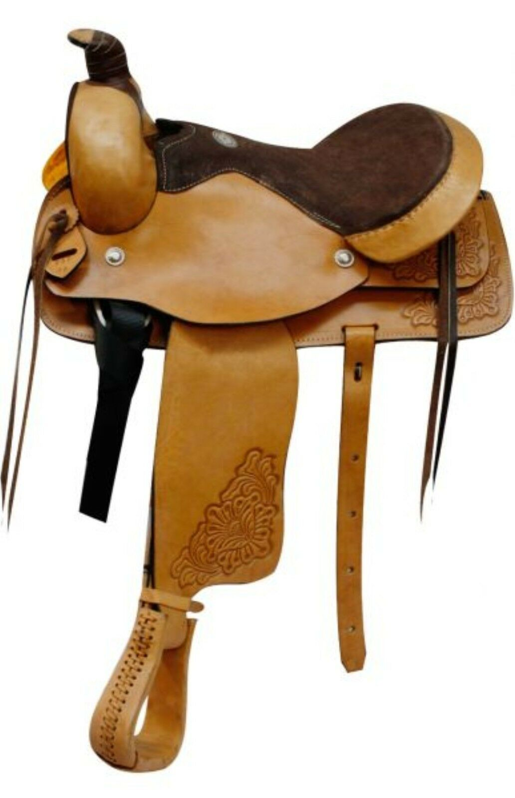 16  Roping Style Light Oil Pleasure Saddle by Buffalo Saddlery