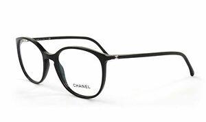80bd73925f Chanel 3282 C501 Black Size 52-54 Precription Eyewear Authorized ...
