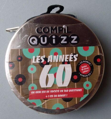 COMPIL QUIZZ - LES ANNÉES 60 - LE JEU EN 360 QUESTIONS + 1 CD !  - NEUF NEW NEU