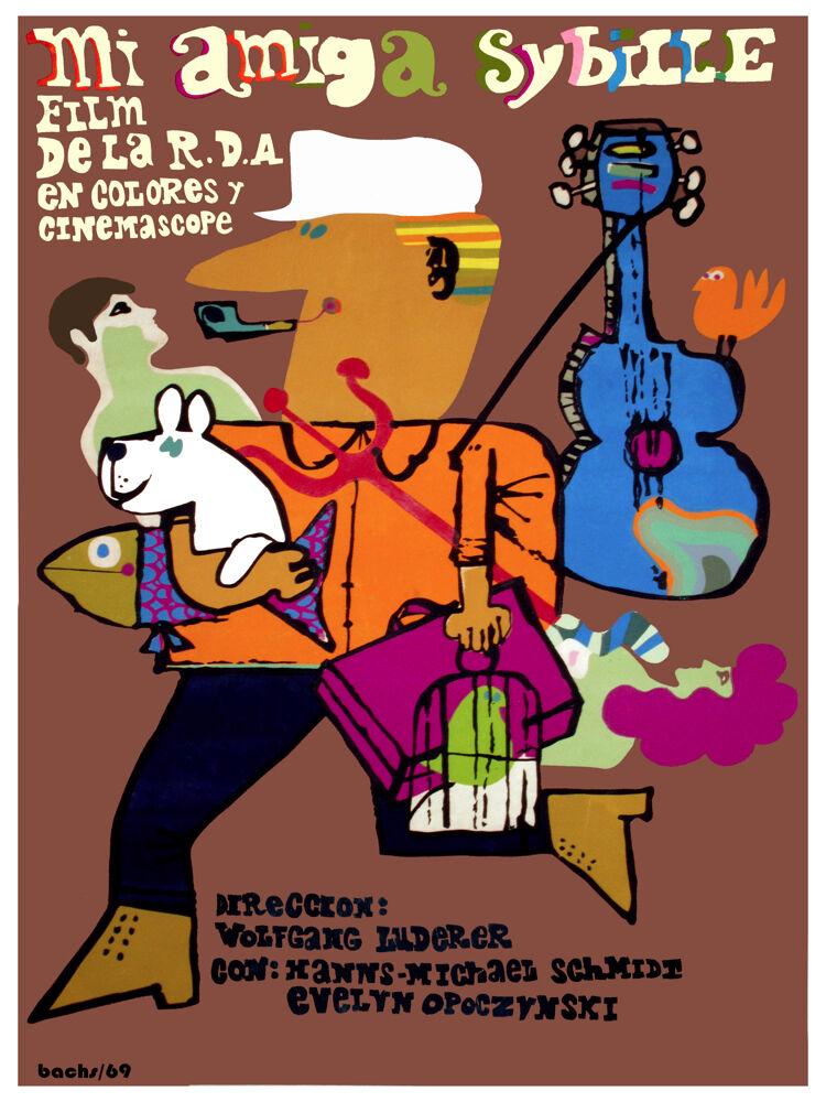 MI amiga sybille vintage movie POSTER.Graphic Design. Wall Art Decoration.3689