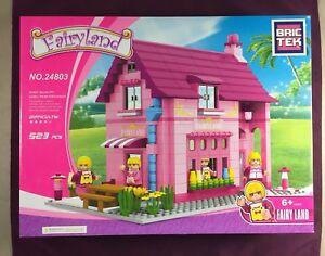 Brictek-Fairyland-Creamery-523-Pcs-24803-Girl-Themed-Pink-Purple-Bricks-New-Box