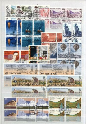 (929152) Space, Architecture, Small lot, Europe - used blocks of 4