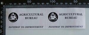 2-x-VINTAGE-AGRICULTURAL-BUREAU-OF-SOUTH-AUSTRALIA-ADVERTISING-PROMO-STICKER
