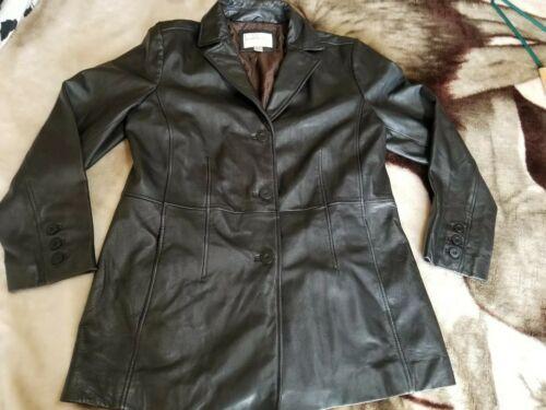 3 Størrelse Foret Large Coat Black Button Lambskin Women's Worthington Ægte qUXgwf