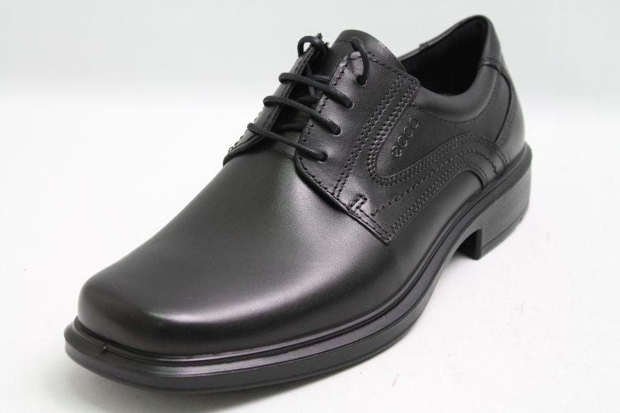 Cómodo y bien parecido Ecco zapatos negro de cuero de cambio plantilla shockpoint absorbedor