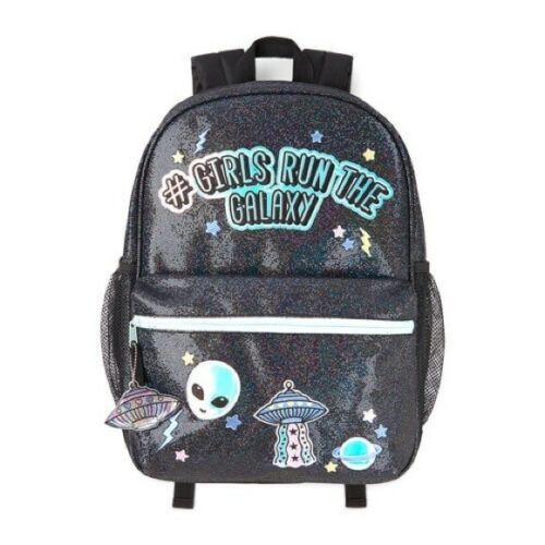 Details about  /Children/'s Place Hashtag Girls Run Galaxy SpaceGlitter Patch Backpack School Bag