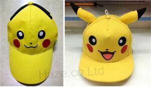 Pokemon-Cosplay-Enfants-Casquette-de-baseball-Pikachu-Casquette-pointue