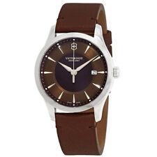 Victorinox Swiss армия мужские часы альянс дата коричневый циферблат кожаный ремешок 241805