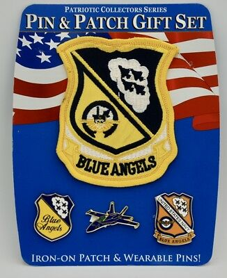 US NAVY BLUE ANGELS CUTOUT LARGE EMBROIDERED JACKET PATCH 8.5 INCHES USN