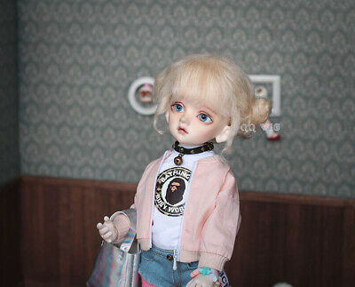 QQ-41D Chestnut Color BJD Doll Mohair Wig {Dolly Planet} 1//8;1//6 ;1//4 ;1//3
