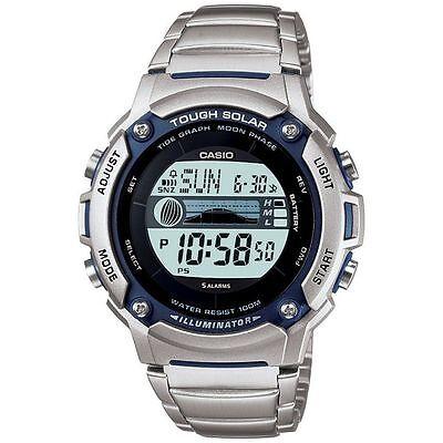 Casio ORIGINAL NEW W-S210 Tough Solar Tidemoon Data Digital Men's Watch W-S210HD