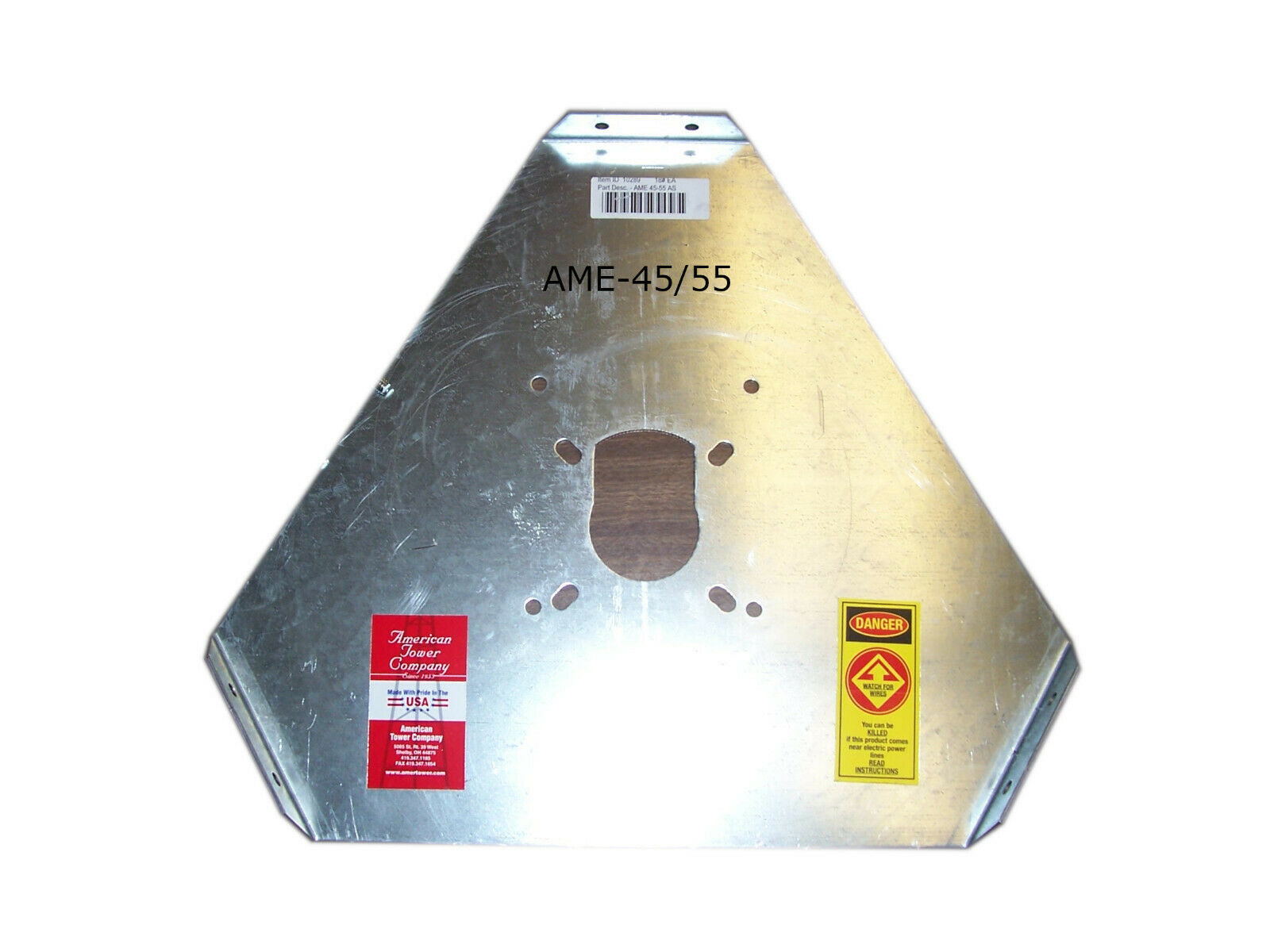 AME 45/55 - ACCESSORY SHELF-ROTOR PLATE, OEM, GENUINE, ROHN TOWER STYLE. Buy it now for 120.00