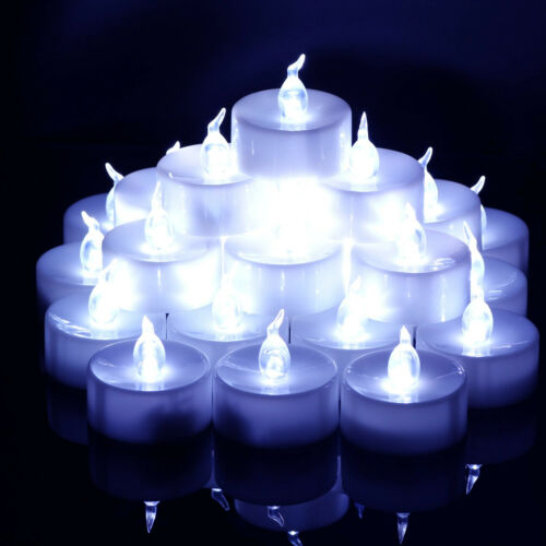 Realistic Bright LED Bulb Tea Lights Candles Wedding Festival Electric T-Lights