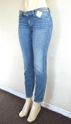 Guess borchie Wash blue Jeans Donna Mid Sz con Skinny Skinny 27 Brittney wSrpxqzSY