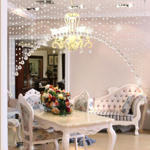 AG/_ Fashion 1 Meter Glass Beads Drapes Partition Backdrop Hanging Curtain Striki