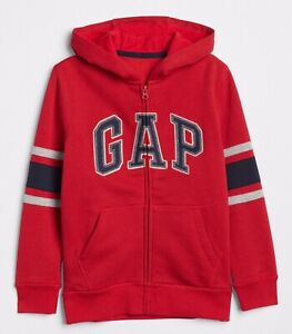 Gap Boys Red Zipped Cotton Hoodie,size S 6-7 Years,brandNew With Tag