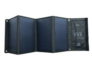 14/21/28W Cargador Solar Panel Outdoor Travel Cargador USB portátil plegable...