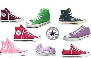 CONVERSE All Star Chuck Taylor sneakers unisex cotone suola gomma 100% originale