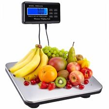 660lbs Lcd Ac Digital Floor Bench Scale Postal Platform Shipping 300kg Weight