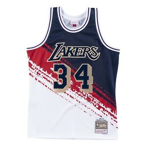 Details about NEW Shaquille O'Neal Lakers Mitchell & Ness Independence Swingman Jersey SHAQ
