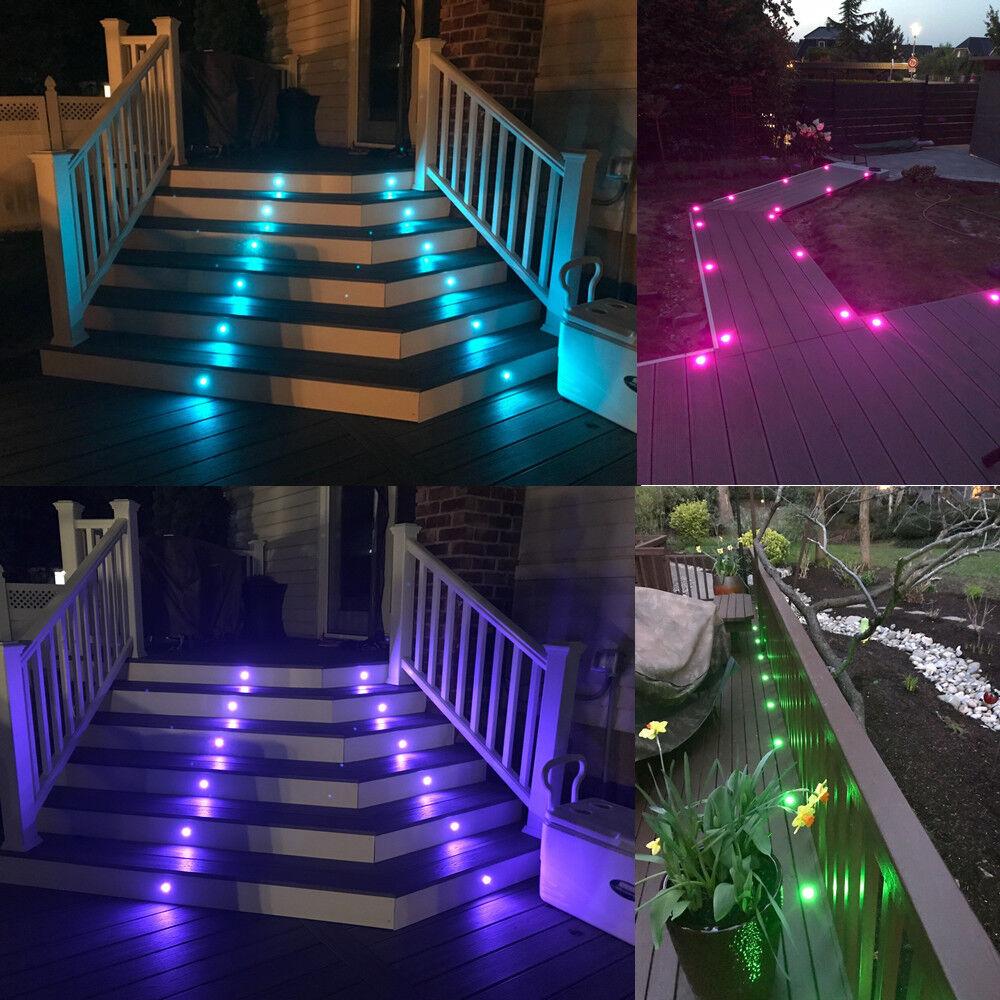 20xWIFI Kontroller RGB RGBW LED Garten Boden Einbaustrahler Leuchte Leuchte Leuchte Treppe Lampe   Eleganter Stil    Züchtungen Eingeführt Werden Eine Nach Der Anderen    Clearance Sale  417b73