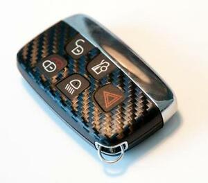 Jaguar-XF-XK-F-TYPE-Carbon-fiber-style-key-sticker-with-no-logo-on-back-of-key