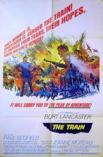 TRAIN 1964 Burt Lancaster, Paul Scofield, Jeanne Moreau US 1-SHEET POSTER
