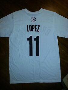b4dec2df1 New BROOKLYN NETS Name and Number BROOK LOPEZ T-SHIRT AUTHENTIC ...