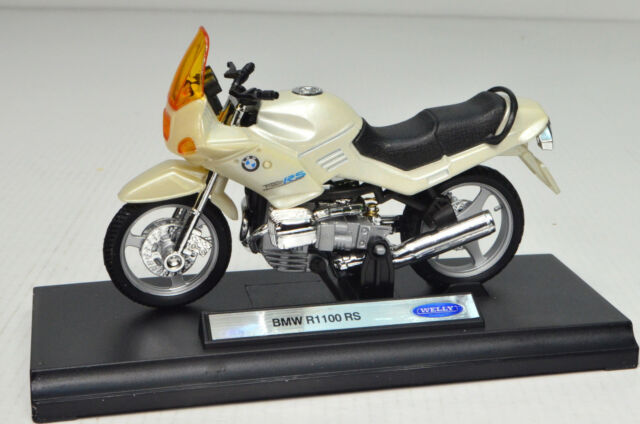 BMW R1100 RS colores Crema Escala 1:18 Modelo Motocicleta DE WELLY