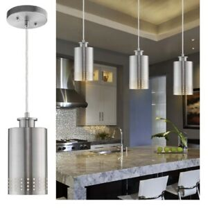 Details about Kitchen Island Pendant Light Fixture Modern Hanging Ceiling  Brushed Nickel Mini
