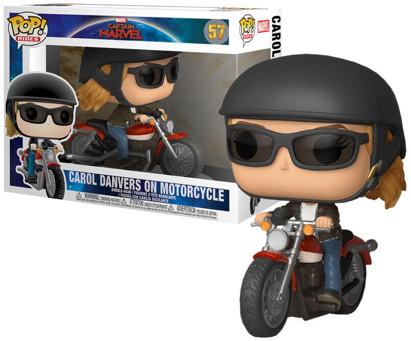 FUNKO POP VINYL RIDES MARVEL CAPTAIN MARVEL CAROL DANVERS ON MOTORCYCLE RIDE