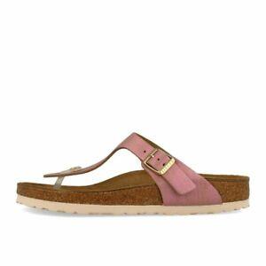 buy popular 6526f 62e1f Details zu Birkenstock Gizeh VL Washed Metallic Pink Schuhe Sandalen  Zehentrenner Rosa