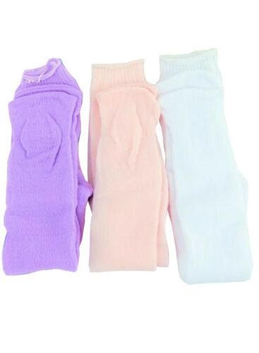 """3 Pack White Pink /& Light Purple Knit Tights fit 18/"""" American Girl Size Doll"""