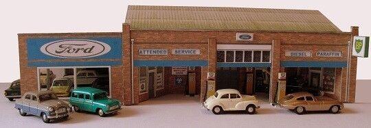 Kingsway, 00 scale, Main Dealer Garage & petrol station,  Kit build service.