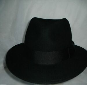 0ccd4f764 Details about Womens Fedora Hat 6.5CM WIDE BRIM STUNNING HAT 100% WOOL  BLACK OR BEIGE