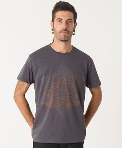 ed42470a6506 Image is loading Hippie-Men-T-shirt-Festival-Clothing-Sacred-Geometry-