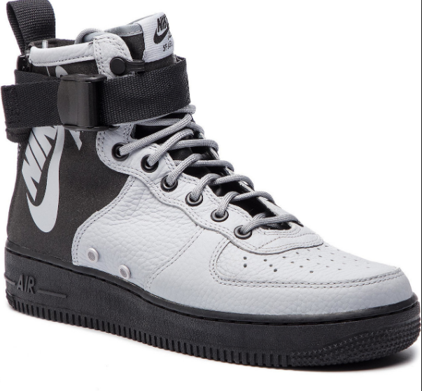 nike air force 1 mid black white grey