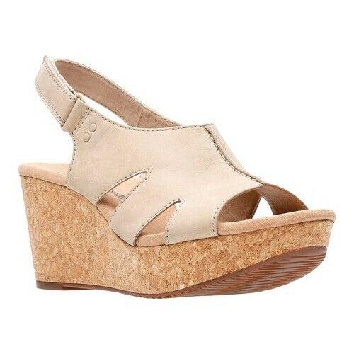 4606e7df5d0 Clarks Annadel Bari Platform Wedge Sandals 013 Sand 7.5 US for sale ...