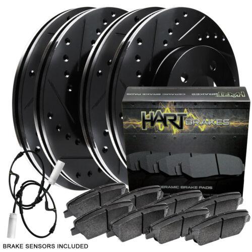 BLACK HART DRILLED SLOTTED BRAKE ROTORS AND CERAMIC PAD BHCC.34068.02 FULL KIT