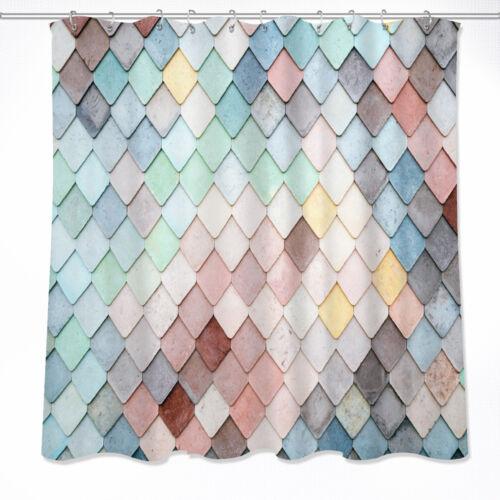 72x72/'/' Color Bricks Shower Curtain Fabric Bathroom Waterproof /& Bath Mat 5386
