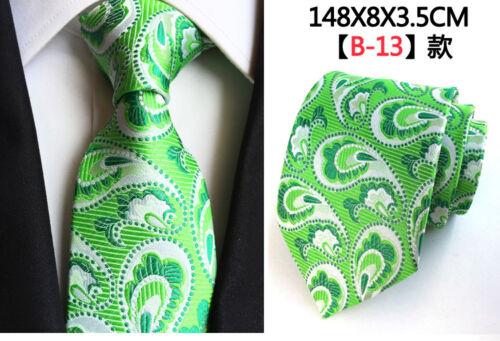 Wedding Men/'s Paisley Silk Tie Formal Classic Floral Jacquard Woven Suit Necktie