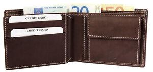 Herren-Geldboerse-in-Echtleder-Brieftasche-Geldtasche-Echt-Leder-braun-mit-Naht