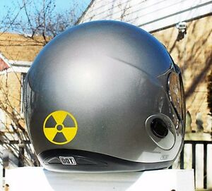 Hyper Refective Radiation Symbol Decal Motorcycle Helmet Safety Sticker #116R