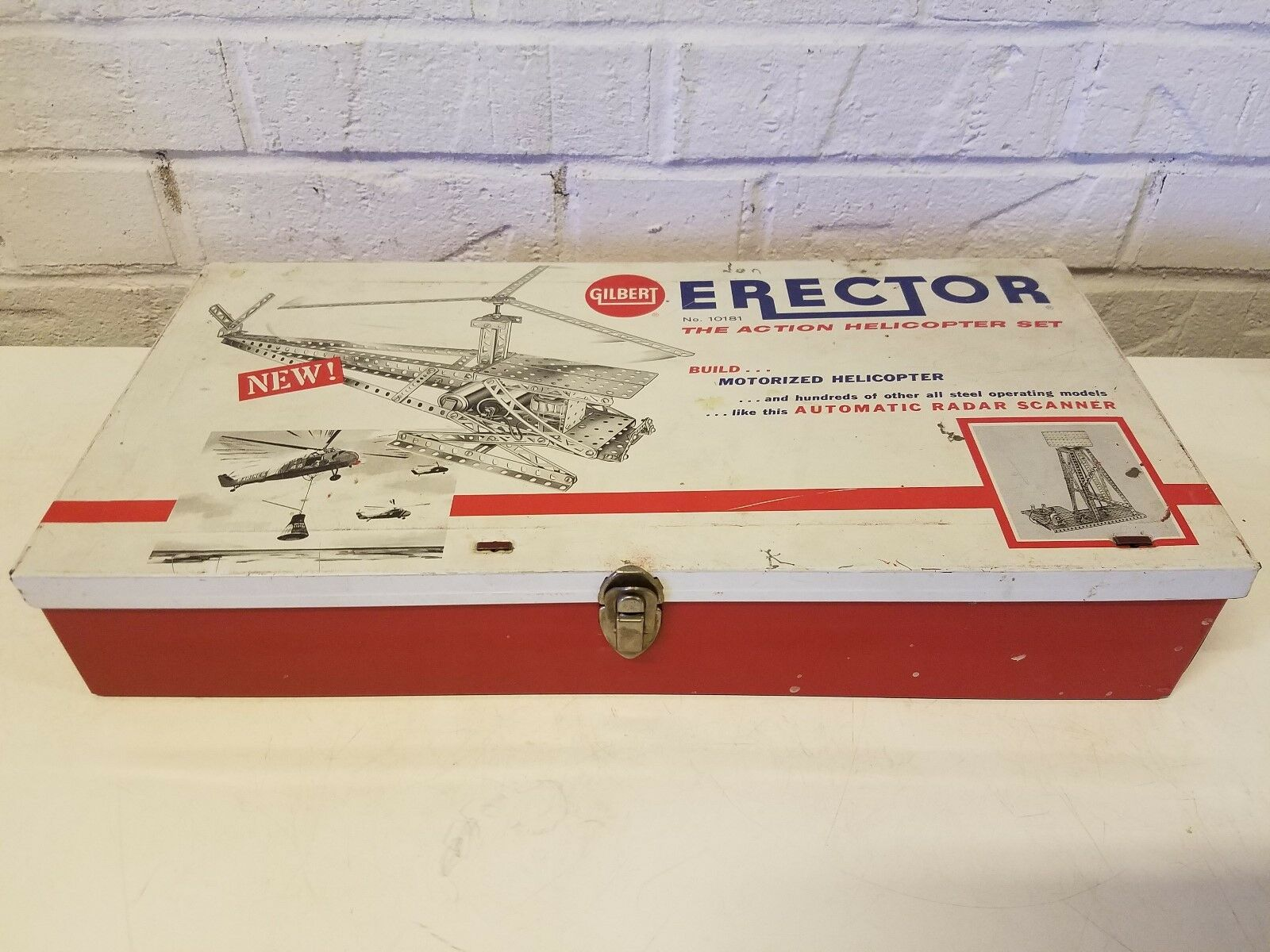 594ms Gilbert 10181 Motorizado Erector Helicoptor Set