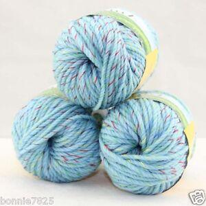 Sale-New-3-ballsx50g-Hand-Knitting-Worsted-Quick-Yarn-Soft-Wool-Silk-Velvet-S35